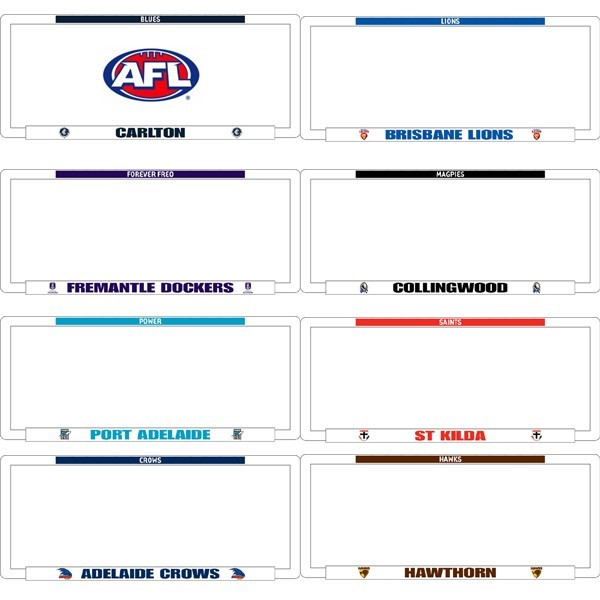 AFL car NUMBER PLATE FRAMES