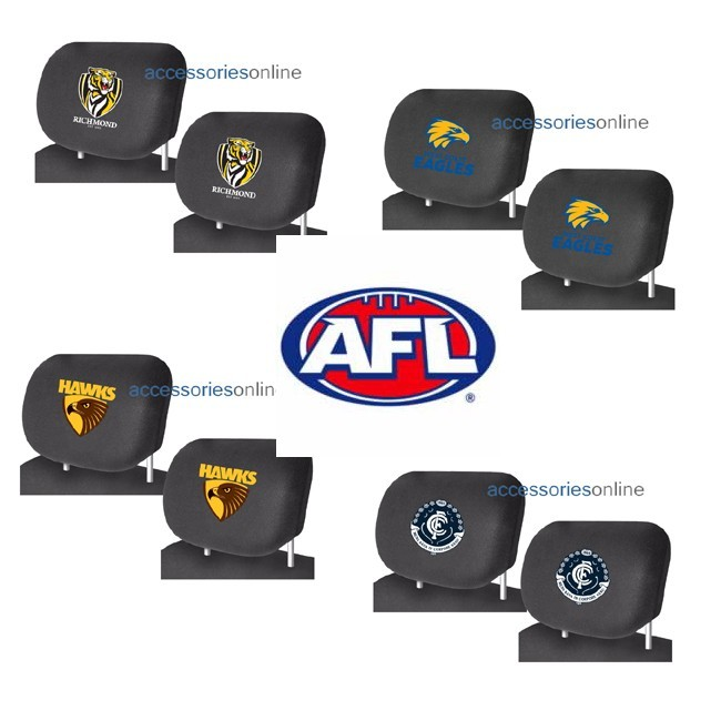 AFL car HEADREST COVERS