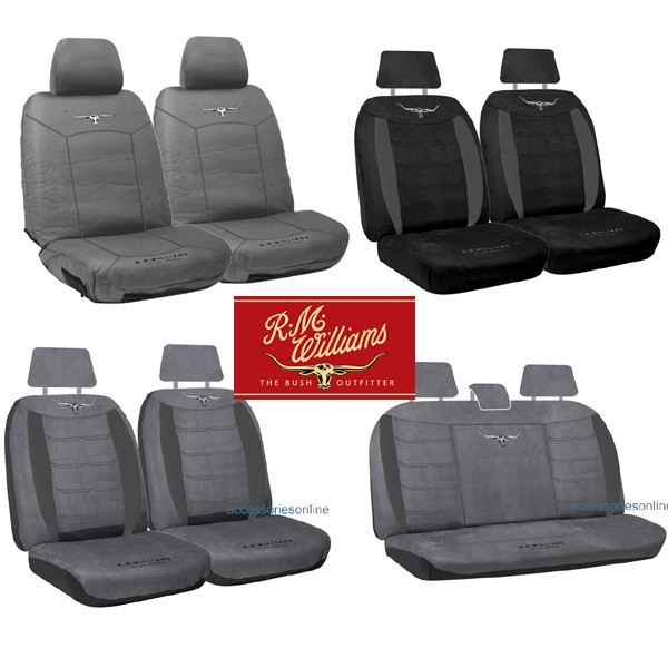 SINGLE R M WILLIAMS COTTON CANVAS SEAT COVER FOR TOYOTA HILUX SURF