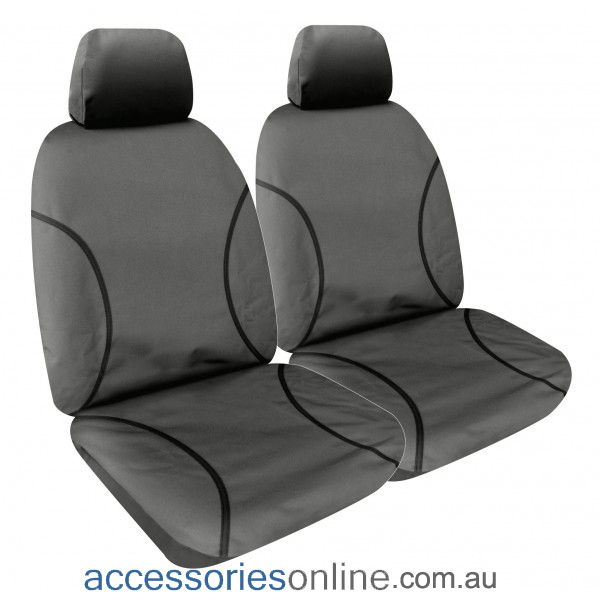 WATERPROOF GREY CAR SEAT COVERS FOR TOYOTA LANDCRUISER SAHARA CANVAS ALL OVER