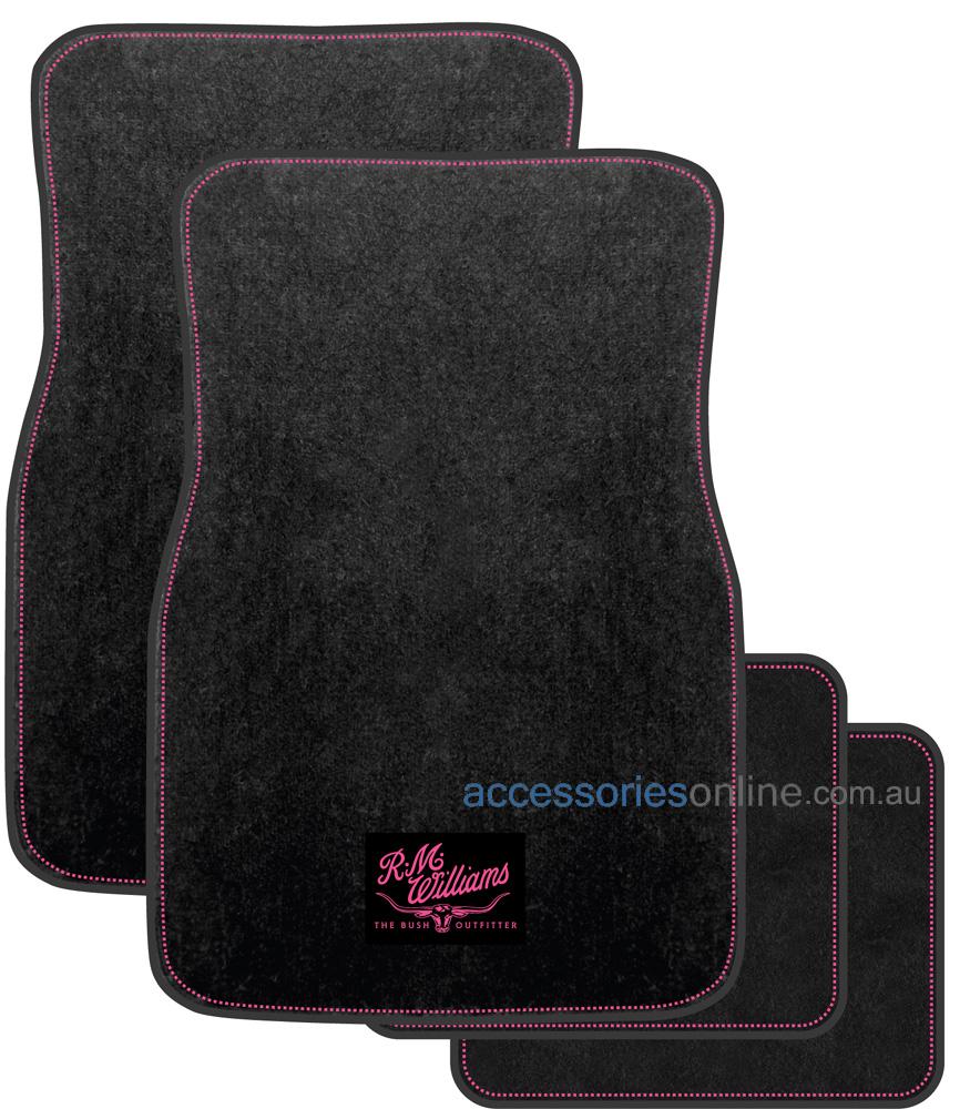 RM WILLIAMS JILLAROO CARPET car floor mats in BLACK