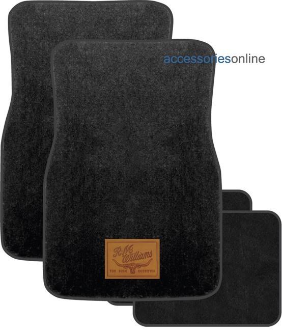 RM WILLIAMS CARPET car floor mats in BLACK