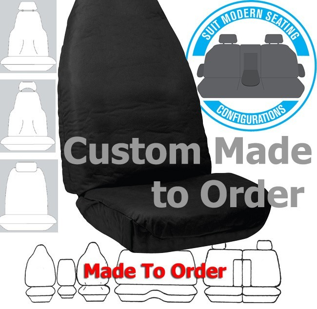 COTTON CANVAS (9oz) in BLACK seat covers CUSTOM MADE to your car. Front or Rear