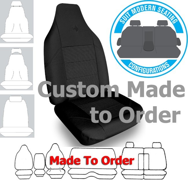 ELITE JACQUARD car seat covers BLACK Size CUSTOM MADE *Free Shipping