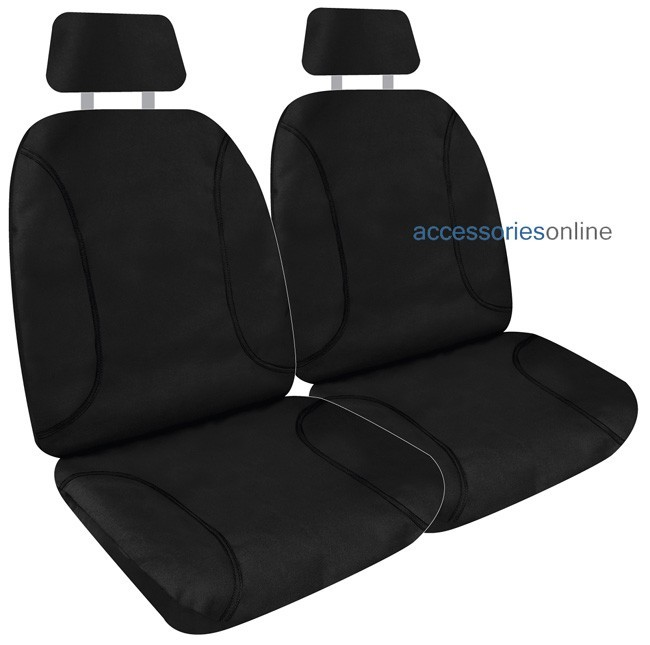 KAKADU POLY CANVAS Front car seat covers BLACK *Free Shipping