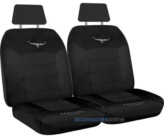 RM WILLIAMS MESH Front car seat covers BLACK *FREE SHIPPING