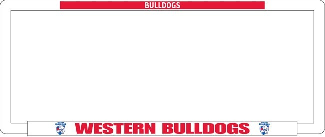 AFL WESTERN BULLDOGS number plate frame