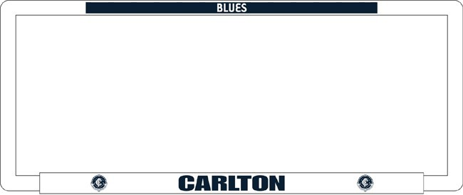 AFL CARLTON BLUES number plate frame