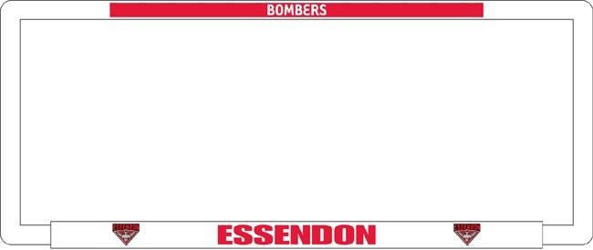 AFL ESSENDON BOMBERS number plate frame