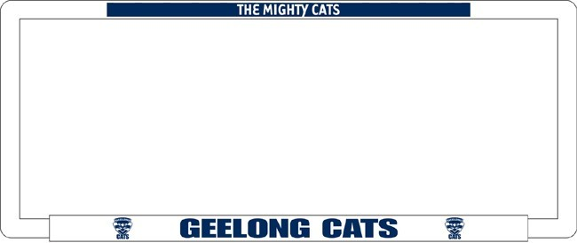 AFL GEELONG CATS number plate frame