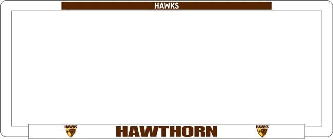 AFL HAWTHORN HAWKS number plate frame