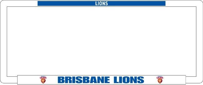 AFL BRISBANE LIONS number plate frame
