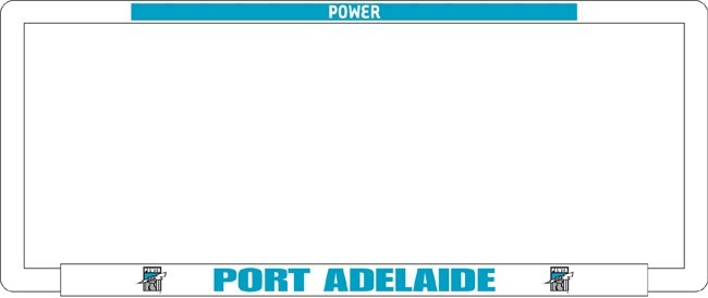 AFL PORT ADELAIDE POWER number plate frame