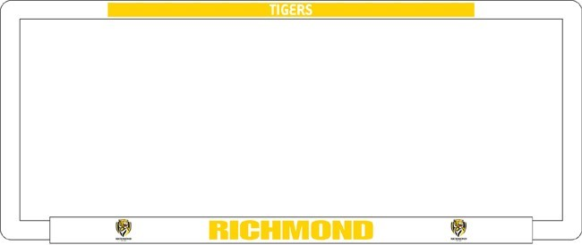 AFL RICHMOND TIGERS number plate frame