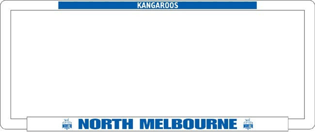 AFL NORTH MELBOURNE KANGAROOS number plate frame