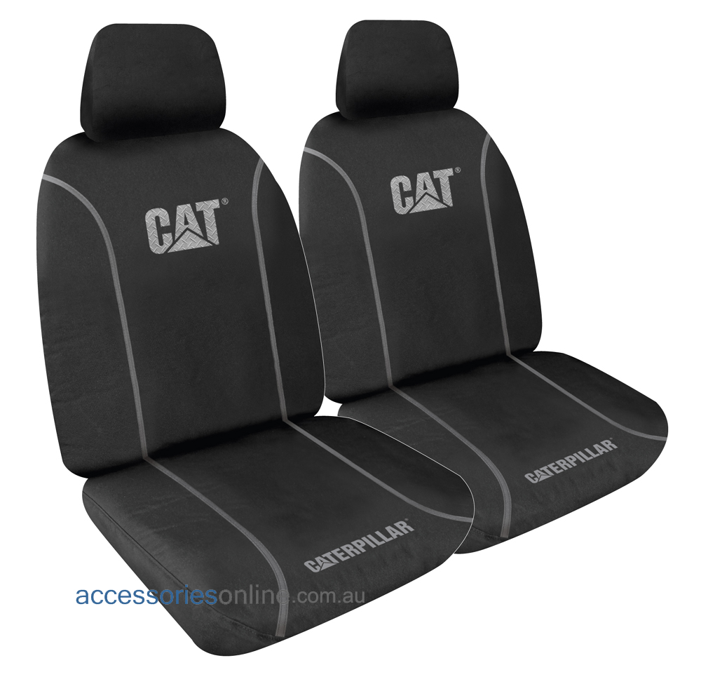 CATERPILLAR POLY CANVAS (9oz) front seat covers