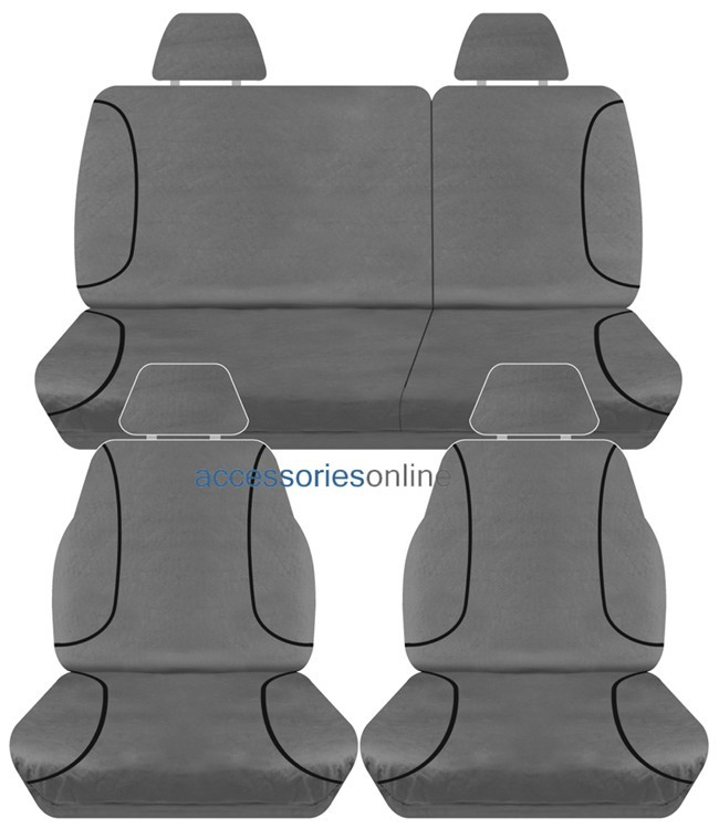 TRADIES Nissan Navara D40 ST Dual Cab Ute 2007 - Onwards Canvas Seat Covers