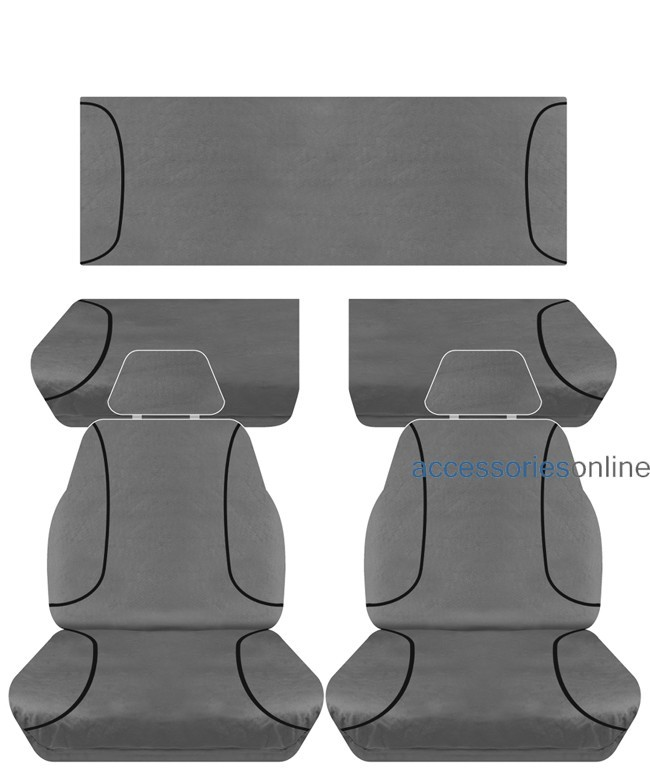 TRADIES Ford Ranger PX Super Cab XL 2012 - Onwards Canvas Seat Covers