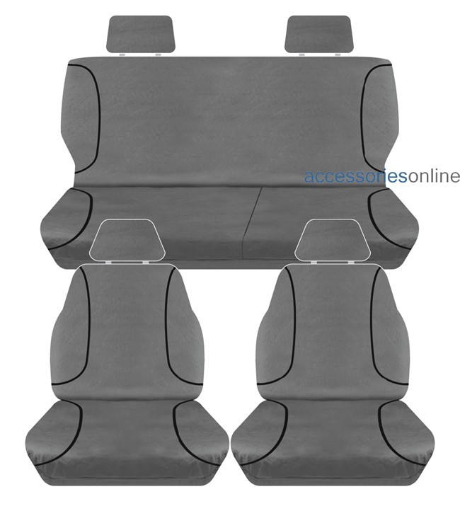 TRADIES Holden Colorado RG Dual Cab LX 2012 to 2014 Canvas Seat Covers