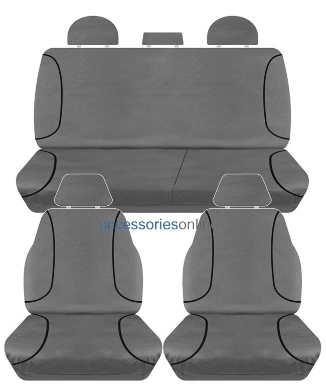 TRADIES Isuzu D Max TF Dual Cab SX 2012 - Onwards Canvas Seat Covers