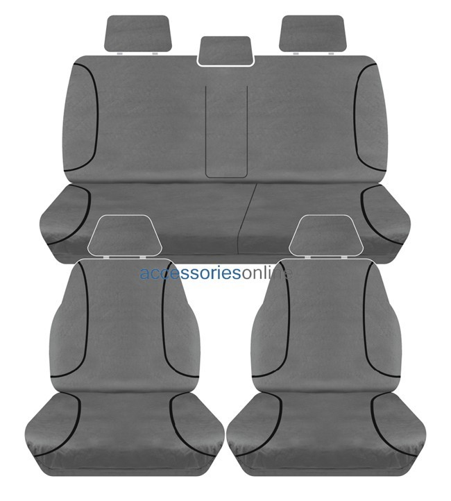 TRADIES Isuzu D Max TF Dual Cab LSU/LSM 2012 - Onwards  Canvas Seat Covers