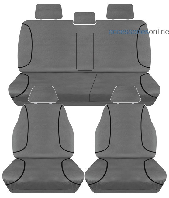 TRADIES Holden Colorado RG Dual Cab LS/LTZ/Z71 2015 onwards Canvas Seat Covers