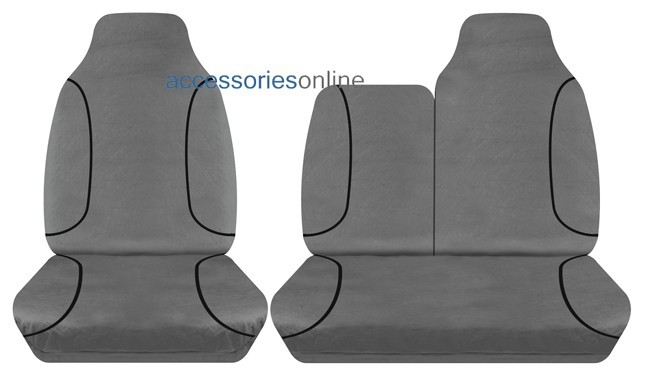 TRADIES Toyota Hiace LWB 2005 to 2014 Canvas Seat Covers