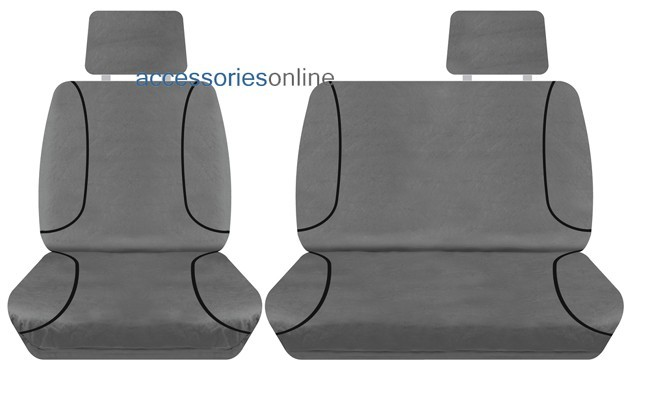 TRADIES Toyota Hilux Single Cab Workmate 2008 to 10/2015 Canvas Seat Covers