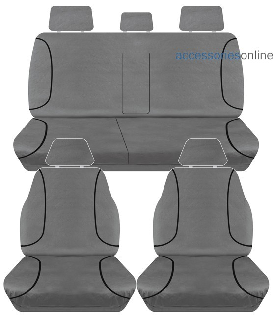 TRADIES Toyota Hilux SR5, SR Hi-Rider Dual Cab 11/2015 onwards Canvas Seat Covers