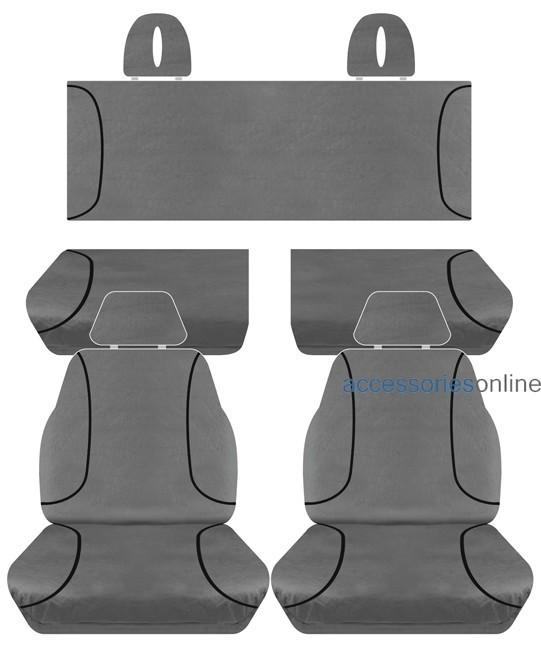 TRADIES Toyota Hilux SR/SR5/Workmate ExtraCab 11/2015 onwards Canvas Seat Covers