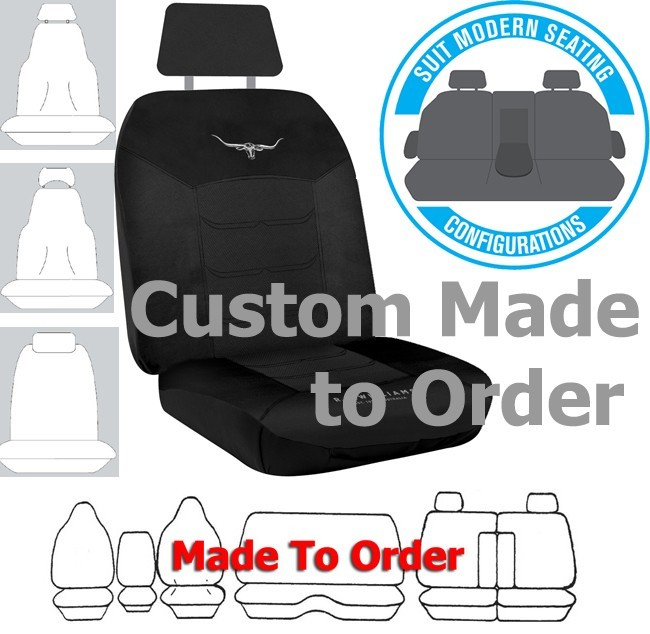 RM WILLIAMS car seat covers BLACK MESH Size CUSTOM MADE *Free Shipping