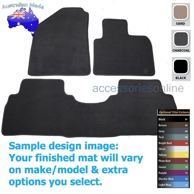 KIA SORRENTO [UM] 4/2015 onwards FRONT & REAR Tailored floor mats