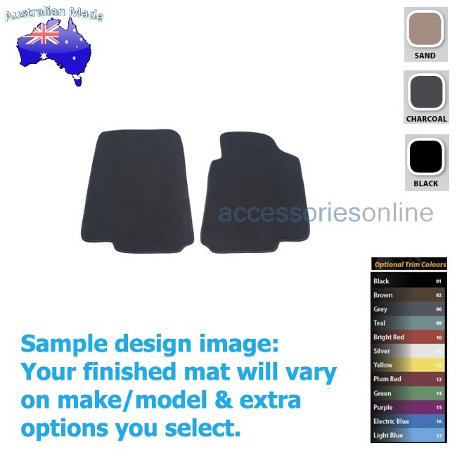 FORD FALCON [FG] UTE 5/2008 to 10/2016 FRONT Tailored floor mats