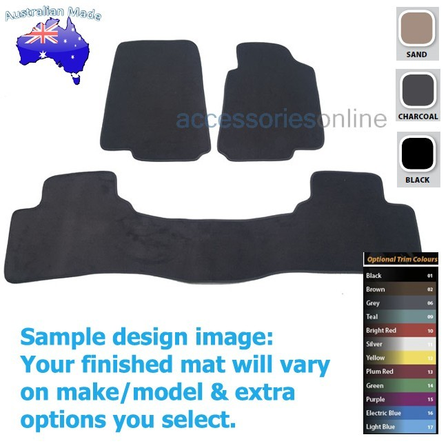 FORD FALCON [FG] SEDAN 5/2008 to 10/2016 FRONT & REAR Tailored floor mats