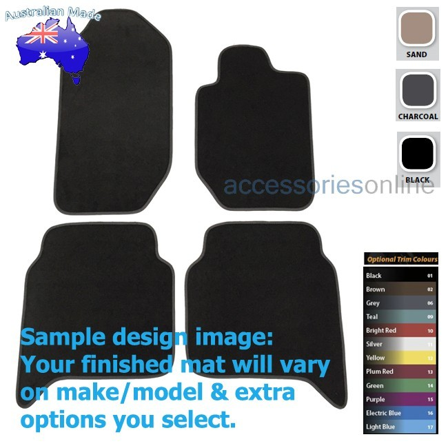 FORD RANGER Wildtrack [PX] dual cab 10/2011 onwards FRONT & REAR Tailored floor mats