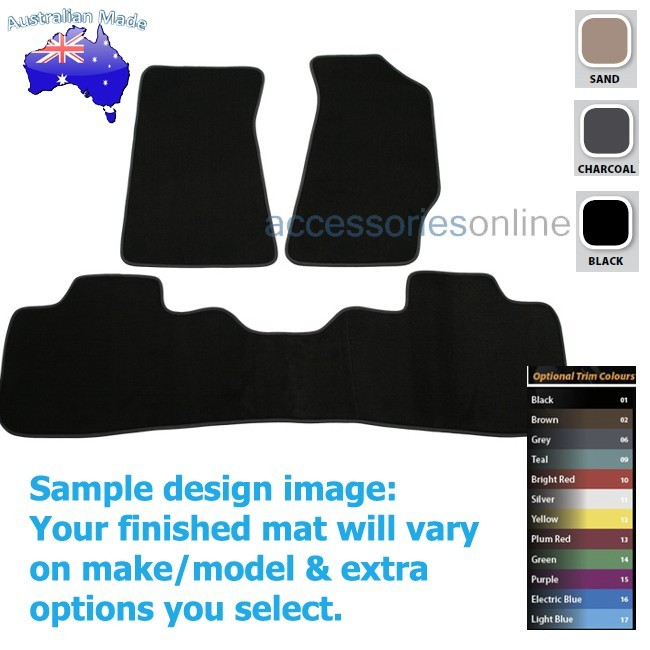 HOLDEN COMMODORE [VT,VX,VY,VZ] 1997 to 2006 FRONT & REAR Tailored floor mats