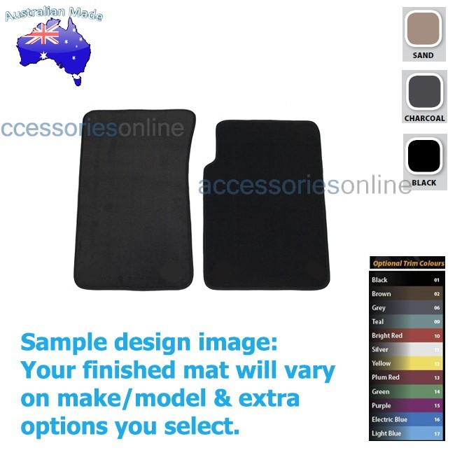 HOLDEN COLORADO [RG7] WAGON 12/2012 onwards FRONT Tailored floor mats