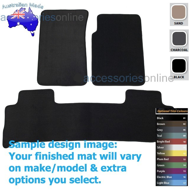 HOLDEN COLORADO [RG7] WAGON 12/2012 onwards FRONT & REAR Tailored floor mats