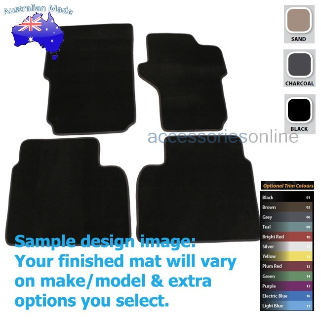 VOLKSWAGEN AMAROK [2H] 2/2011 onwards FRONT & REAR Tailored floor mats