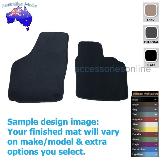 VOLKSWAGEN GOLF [Mk5] (1K) 7/2004 TO 1/2009 FRONT Tailored floor mats