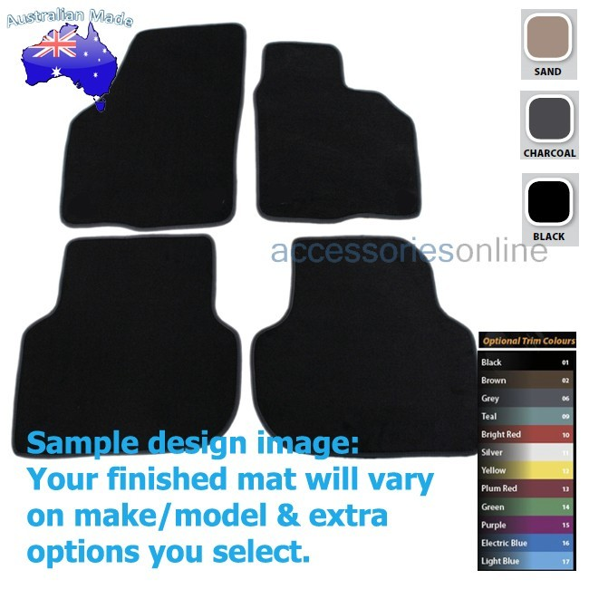 VOLKSWAGEN JETTA [Mk6] (1B) 8/2011 to 12/2017 FRONT & REAR Tailored floor mats