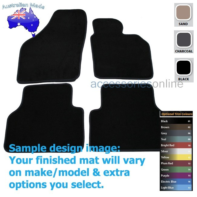 VOLKSWAGEN TIGUAN [5N] (Gen 1) 5/2010 to 4/2016 FRONT & REAR Tailored floor mats