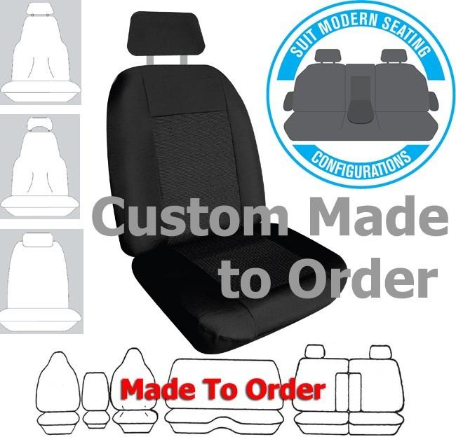 WEEKENDER JACQUARD car seat covers BLACK Size CUSTOM MADE *Free Shipping