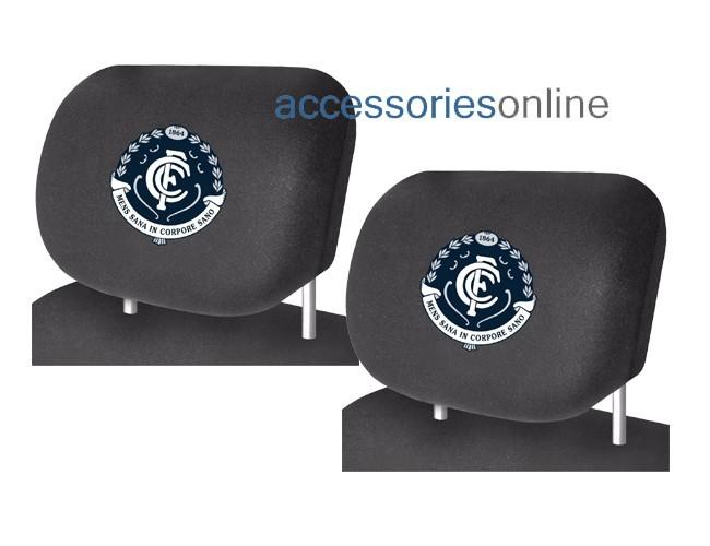 AFL CARLTON BLUES car Headrest Covers