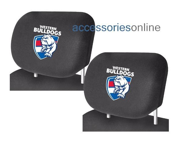 AFL WESTERN BULLDOGS car Headrest Covers