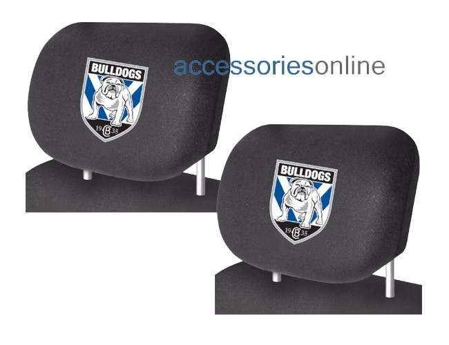 NRL CANTERBURY BULLDOGS car Headrest Covers