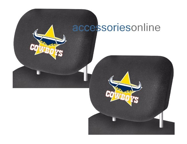 NRL NORTH QUEENSLAND COWBOYS car Headrest Covers