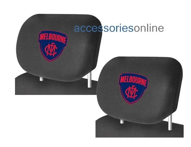 AFL MELBOURNE DEMONS car Headrest Covers