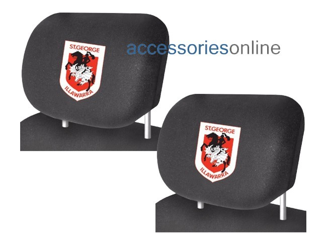 NRL ST. GEORGE ILLAWARRA DRAGONS car Headrest Covers