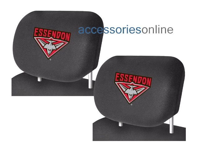 AFL ESSENDON BOMBERS car Headrest Covers